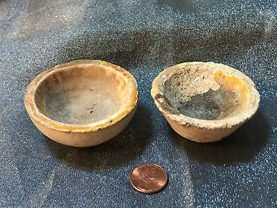 Antique Mining Assay Goldfield Crucibles Bowls Made in England, Battersea Marked