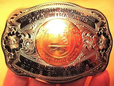 2009 Shooting RIFLE HUNTING N HOLLYWOOD Sportsman Club BELT BUCKLE