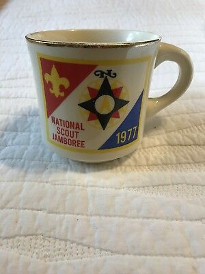 Vintage BSA Boy Scouts 1977 National Scout Jamboree Coffee Mug/Cup USA New