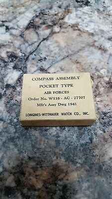 Air Forces Compass Assembly Longines Wittnauer Pocket Type 1941