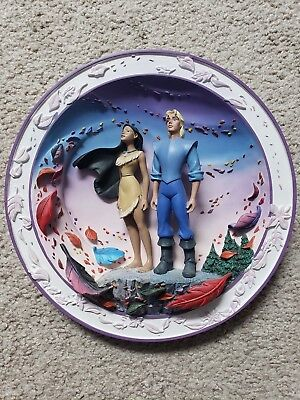 Disney Pocahontas 3D Colors of the Wind Collectible Plate