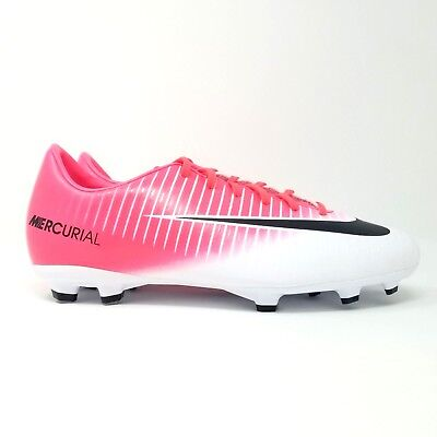 save off 48747 b35f6 NIKE JR MERCURIAL Victory VI FG Kids Soccer Cleats Pink White 831945-601  Youth