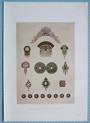 Large 1862 Exhibition Print Jewellery By Messrs Garrard & Co Hunt & Roskell