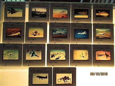 Lot 17 USN, USAF, USMC official 35mm color slides Military Aircraft