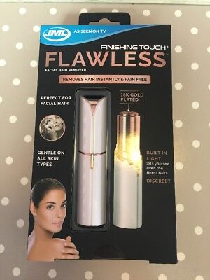 JML Finishing Touch Flawless. Facial Discreet Hair Remover - Gold Plated