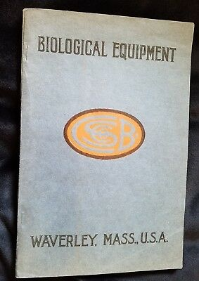 1925 Catalog BIOLOGICAL Lab Equipment Cambridge Botanical Supply Co Waverley MA