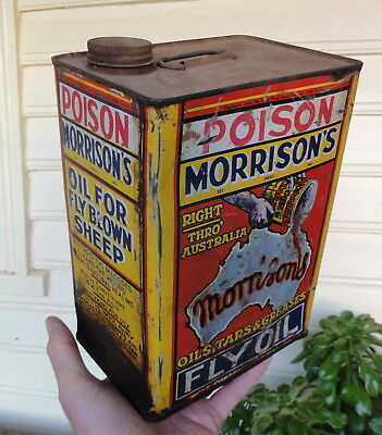 Rare Morrison's Fly Oil One Gallon Can.  Reasonable Condition.