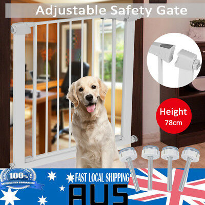 78cm Tall Baby Safety Security Gate Adjustable Pet Dog Stair Barrier Cat Door AU