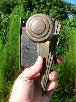 Vintage Antique Set of Door Knobs Back Plates and Lock from Mountain Cabin (2)