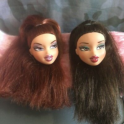 Bratz head gamez head bundle - long hair, good condition