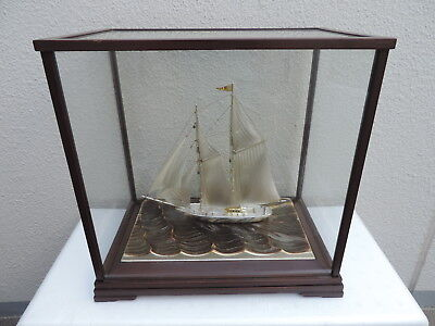 Very Large  Japanese Sterling Silver 960 Boat Yacht Ship By Seki 267 Grams Japan