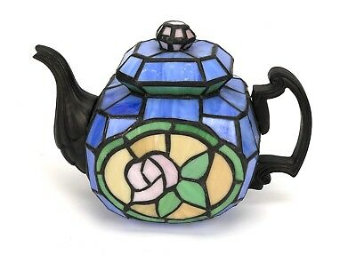 Stained Glass Tiffany Style Tea Pot Kettle Teapot Night Light Lamp GLASS ONLY