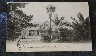 PRESBYTERIAN LADIES' COLLEGE SYDNEY SCIENCE WING p/m 1907 BEATTIE  CARD #4
