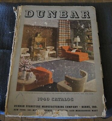 Original 1940 Catalog Dunbar Furniture Manufacturing Co Very Damaged Complete #6
