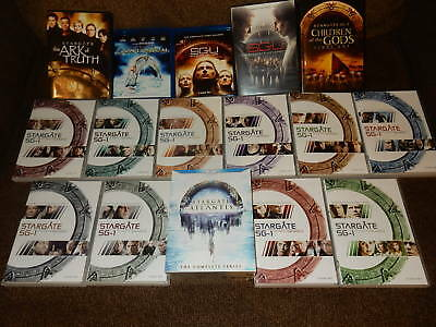 Gigantic (83-Disc) Stargate Collection Blu-Ray/dvd Sg-1, Atlantis, Sg-U & More