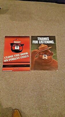 """Two Smokey the Bear Posters, Original, Forest Service 18.5x13"""""""