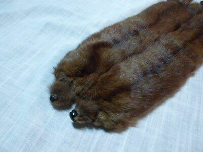 Vintage Brown/red Collar Stole Fur Wrap Very Soft Child Size