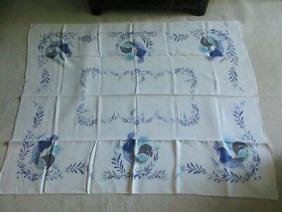 Vintage LInen Tablecloth - Rooster