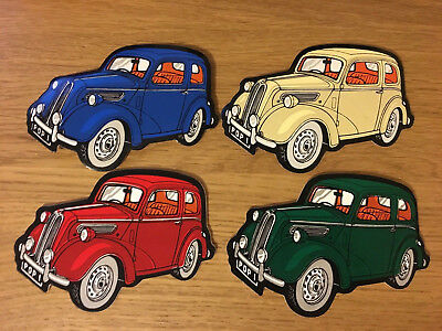 Classic Cars Ford Popular Set Pvc Wipe Clean Drinks Coasters