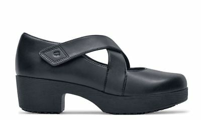 Nu? Shoes for Crews 8.5 Water & Slip Resistant Mary Jane Heels Black Leather