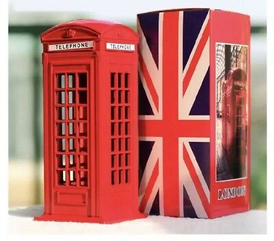 British Red Telephone Box Money Bank Coin Box London Souvenir Gift