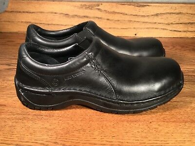 Red Wing Shoes Women's Slip On Loafers Black Leather Slip Resistant SD Sz. 7 B