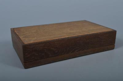 K5350: Japanese Old Wood CONTAINER for article Accessories Case Box Tea Ceremony