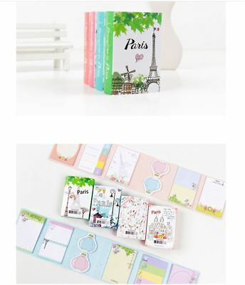 Paris Tower Fold Booklet 240pages Self Adesive Paper Tape / Sticky Note / Memo