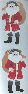 10 Strips Mrs Grossman`s BRIGHT SANTA Reflections Discontinued 2009 Stickers