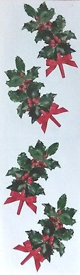 10 Strips Mrs Grossman`s HOLLY SPRIGS Photoessence Discontinued 2003 Stickers