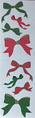 10 Strips Mrs Grossman`s HOLIDAY BOWS  Discontinued 1991 Stickers