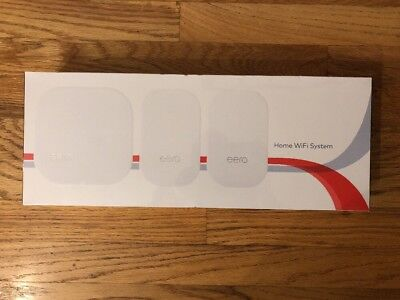 Eero Home WiFi Mesh System 2nd Generation 3 Pack 1 Base 2 Beacon Model : M010301