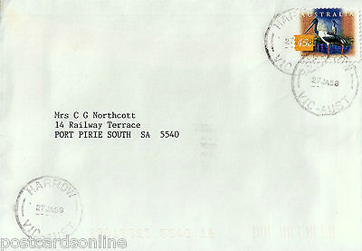 L0408cgt Australia V Harrow Postmark on cover