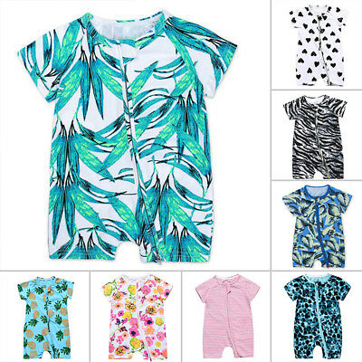Childrens Summer Infant Baby Short Sleeve Jumpsuit Romper comfortable Unisex