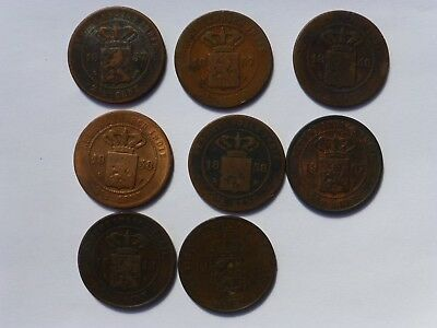Netherlands Indies 2 And Half Cents X 8  1857 - 1914