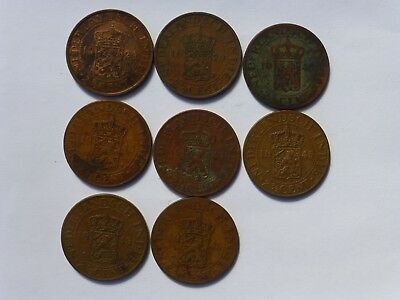 Netherlands Indies 2 And Half Cents X 8   1920 -1945