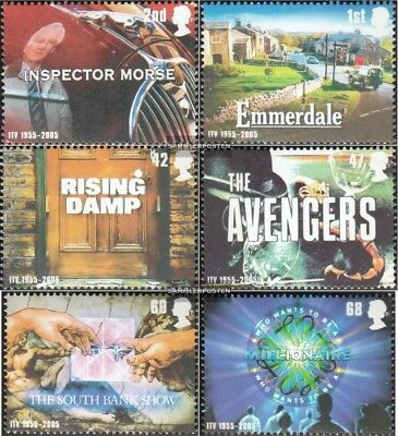 United Kingdom 2332-2337 mint never hinged mnh 2005 Privatfernsehen