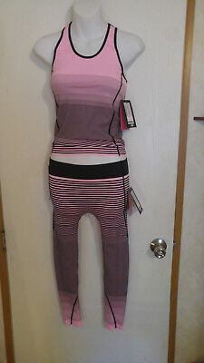 PERFORMANCE AZL gym/workout matching set, size S/M NEON Pink/Black NWT