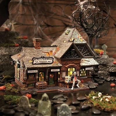 Dept 56 Halloween RICKETY RAILROAD STATION #800000 NRFB Village