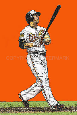 New / Limited Chris Davis Baltimore Orioles Art Lithograph, s/num by the artist