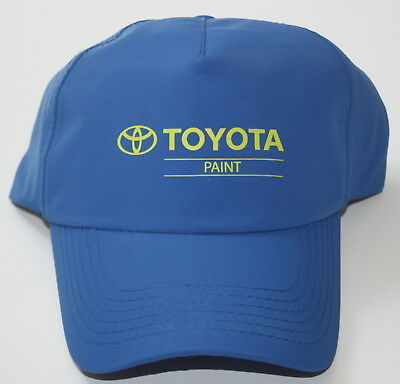 Toyota Paint Cap Hat Royal Blue Adjustable Strap Rare from Canada Paint Facility
