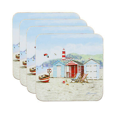 Set Of 4 Sandy Bay Coasters Kitchen Tableware Dining Serving Mat Drinks Decor
