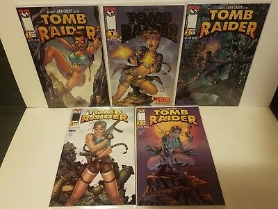 Tomb Raider #1 1999 5 Covers Gold Tower Turner Park Finch Variants Image Lara!