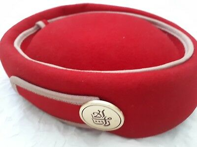 EMIRATES HAT USED 100% official & Veil Small Ex Stewardess ...