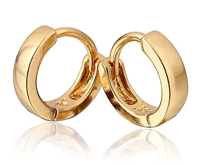 18 k Gold Plated Jewellery Small Baby Girls Hoops Earrings Baby Girl HQ UK