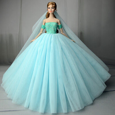 Fashion Royalty Princess Dress/Clothes/Gown+veil For 11 in. Doll S551