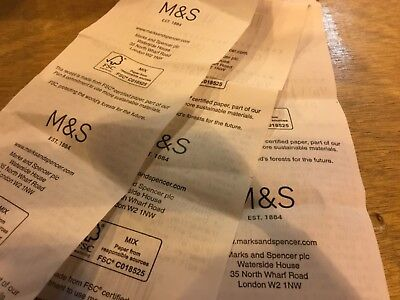 Marks and spencer credit vouchers £152.50