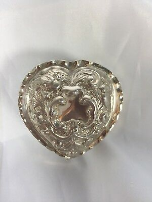 Antique Sterling Solid Silver 'William Comyns' C1889 Trinket/jewellery Box