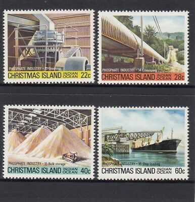 CHRISTMAS Island 1981 Phosphate MINING INDUSTRY set of 4 MNH - to Shipping.