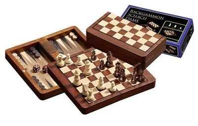 Chess Backgammon Checkers Travel Set 2511 Board Game By Philos
